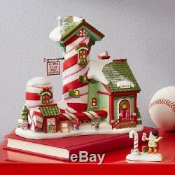 Department 56 North Pole Village Candy Striper Lighted Building 6000613 New