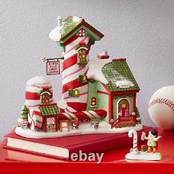 Department 56 North Pole Village Candy Striper Lit Animated Building, 7 Inch