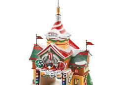 Department 56 North Pole Village Cars Rally Center Lit House