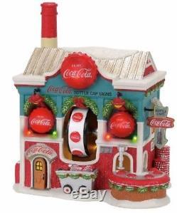 Department 56 North Pole Village Coca Cola Bottle Caps Building Figurine 4056665