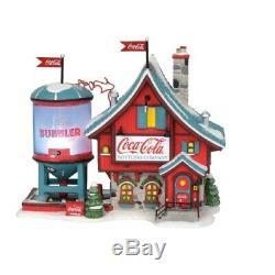 Department 56 North Pole Village Coca-Cola Bubbler Building Figurine 6003110 New