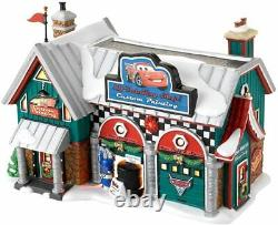 Department 56 North Pole Village Disney Cars Holiday Detail Shop 4025277 NEW