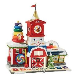 Department 56 North Pole Village Fisher-Price Fun Factory Lit House, 8.27-Inch