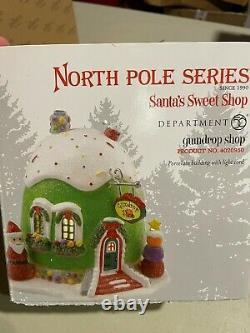 Department 56 North Pole Village Gumdrop Shop Lit Building 4020950 New Retired