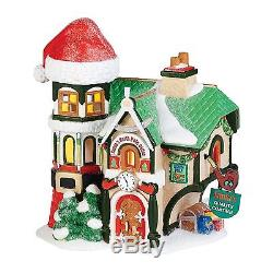 Department 56 North Pole Village Santa's Office Lit House, 7.48-Inch Brand New