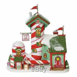 Department 56 North Pole Village Series Candy Striper Lit Animated Building 7