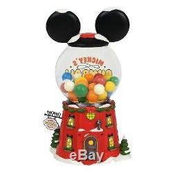 Department 56 North Pole Village Series Mickey's Gumball Emporium Lit Buildin