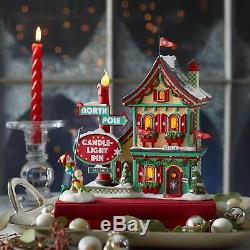Department 56 North Pole Village Series Welcoming Christmas Candle-Light Inn Lit