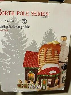 Department 56 North Pole Village Sizzlin' Griddle Lit House 4050965 New in Box