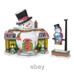 Department 56 North Pole Village Snowy's Diner Building 6005429 New