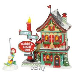 Department 56 North Pole Village Welcoming Christmas 2 piece set 6002292