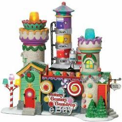 Department 56 North Pole Village Yummy Gummy Gumdrop Factory Lit Building