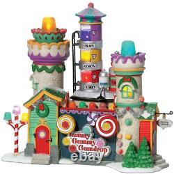 Department 56 North Pole Village Yummy Gummy Gumdrop Factory Lit Building New