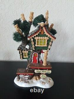 Department 56 North Pole Woods CHISEL McTIMBER SET STUDIO Christmas Village