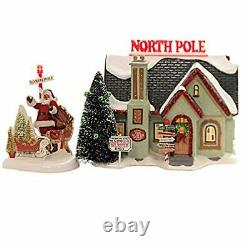 Department 56 Original Snow Village The North Pole House Lit Bldg 6005449 NEW