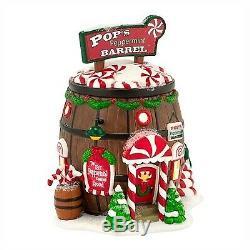 Department 56 Pop's Peppermint Barrel 4030716 North Pole Village Lit Building