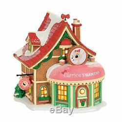 Department 56 Rudolph The Red-Nosed Reindeer Clarice's North Pole Bakery Village