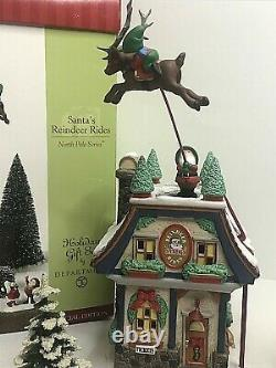 Department 56 Santa's Reindeer Rides Animated North Pole Special Edition 56748