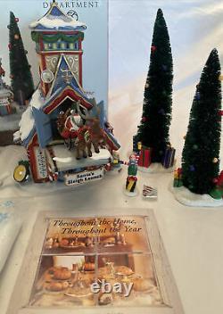 Department 56 Santa's Sleigh Launch North Pole Series 2001 Christmas Village