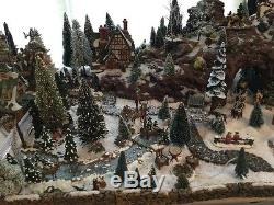 Department 56 Village Dickens Alpine North Pole Huge Lot with Custom Bases