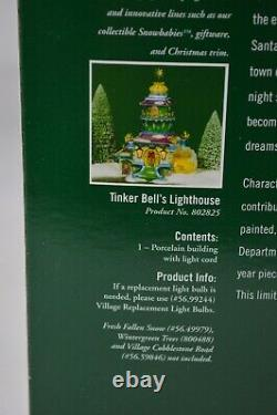 Department 56 Village North Pole Tinker Bell's Lighthouse Porcelain Building