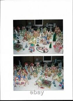 Department 56 north pole collectibles (assorted buildings/accessories/trees)