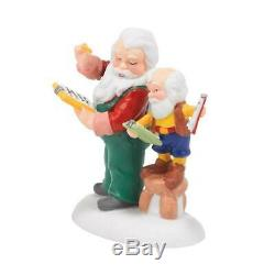 Dept 56 2014 SANTA'S NORTH POLE OFFICE + CHECK AND DOUBLE CHECK Village NRFB &