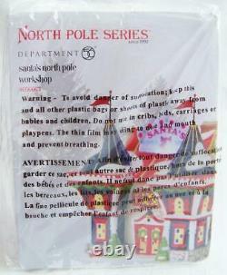 Dept 56 2017 SANTA'S NORTH POLE WORKSHOP #4056663 NRFB Village off-season santa