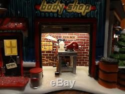 Dept 56 56784 Animated Hot Wheel Custom Car Shop North Pole Christmas Village