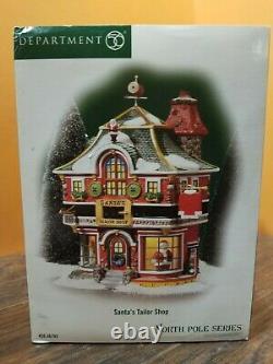 Dept 56 56793 Santa Tailor Clothing Store Shop Elf North Pole Christmas Village