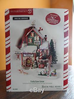 Dept 56 56952 Candy Cane Corner C Ed North Pole Factory Shop Christmas Village