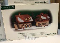 Dept 56 Alpine Village Series Lot Of 5 RARE! #56230 #56220 #56221 #56229 #5953