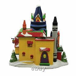 Dept 56 CRAYOLA CRAYON FACTORY North Pole Village 6007613 NEW 2021 IN STOCK