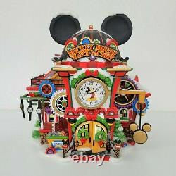 Dept 56 Christmas Village North Pole Disney Showcase Mickey Mouse Watch Factory