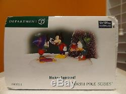Dept 56 Disney Mickey North Pole Holiday House Approved Christmas Village Lot
