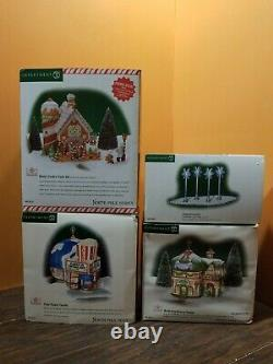 Dept 56 Gingerbread House Polar Palace Theater North Pole Christmas Village Lot