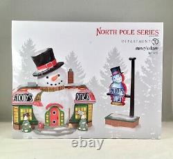Dept 56 Lot of 2 SNOWY'S DINER St/2 + SHOVELING BUDDIES FOR HIRE North Pole NEW