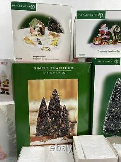 Dept. 56 Lot of Village Accessories North Pole Series Peppermint