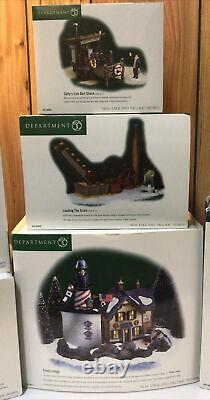Dept 56 New England Village Series Lot Of 7