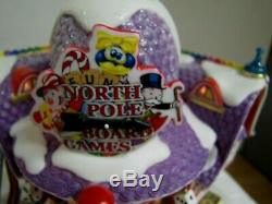 Dept 56 North Pole Board Games Factory Christmas Village 56.56789 Lights Up