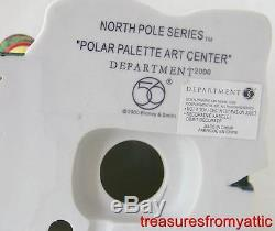 Dept 56 North Pole CRAYOLA POLAR PALETTE ART CENTER + CRUISIN' ELVES MIB Village