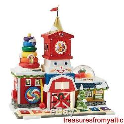 Dept 56 North Pole FISHER PRICE FUN FACTORY + TOYS + LIL FARMER New NRFB Village
