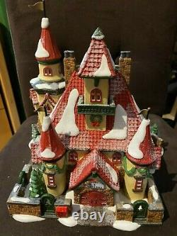 Dept 56 North Pole Heritage Series Home of Mr. /Mrs Clause Handpainted Porcelain