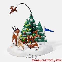Dept 56 North Pole Rudolph's REINDEER GAMES #56853 NRFB SEALED Animated Village