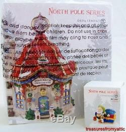 Dept 56 North Pole STAR BRITE GLASS ORNAMENT SHOP + NICE SAVE NRFB Village 2013