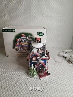 Dept. 56 North Pole Series Christmas Village Hot Wheels Custom Car Shop 56784