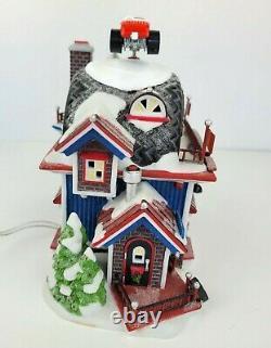 Dept 56 North Pole Series Christmas Village Hot Wheels Custom Car Shop 56784