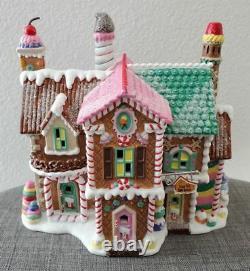 Dept 56 North Pole Series Christmas Village Sugar Hill Row Houses Gingerbread NR
