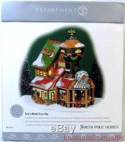Dept 56 North Pole TOOT'S MODEL TRAIN MFG 56728 NIB LtdEd Animated Village Toots