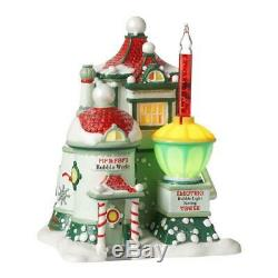 Dept 56 North Pole Village 2012 PIP & POP'S BUBBLE WORKS #4025280 NRFB with Light
